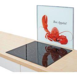 Zeller Szklana płyta ochronna homar na kuchenkę – duża, kolor biały,  (4003368262857)