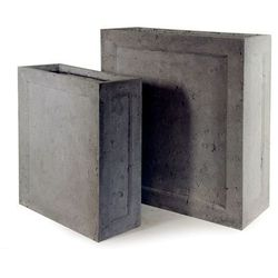 Donica ogrodowa prostokątna szara M 72cm - oferta [e5b2427087958719]