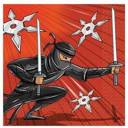 Serwetki urodzinowe ninja - 33 cm - 16 szt. marki Amscan