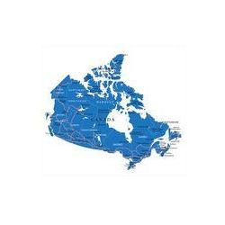 Foto naklejka samoprzylepna 100 x 100 cm - Mapa polityczna Kanady - produkt dostępny w FOTAKO