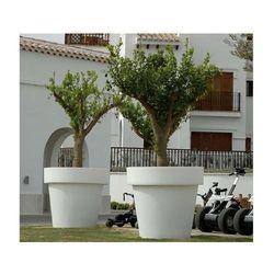 New garden donica magnolia 45 solar biała - led, sterowanie pilotem
