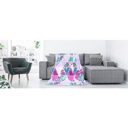 Koc narzuta na fotel cuddle 70x150 wzór kaleidoscope marki Deco king