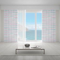 Zasłona okienna na wymiar - RAYAS ESTRECHAS PASTELS