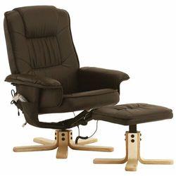 Fotel masujący wypoczynkowy z masażem + ogrzewanie - brązowy marki Regoline