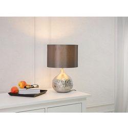 Nowoczesna lampka nocna - lampa stojąca w kolorze srebrnym - YAKIMA (7081459467340)