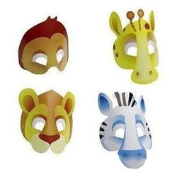 Maski safari - party w dżungli - 8 szt. marki Amscan