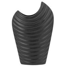 Dekoracyjny wazon na kwiaty czarny ECETRA (4260624118918)