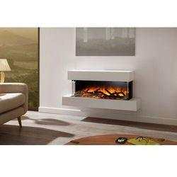 Kominek do montażu ściennego Flamerite Fires Iona 900 15x10. Efekt płomienia Nitra Flame LED-20 kolorów