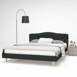 Vidaxl łóżko materiałowe ze stelażem listwowym, 160x200cm, ciemnoszare (8718475590880)