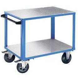 Eurokraft Wózek montażowy, 2 powierzchnie ładunkowe z nakładkami z ocynkowanej blachy stal