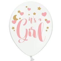 Balon pastelowy na Baby Shower Dziewczynki - 30 cm - 6 szt. (5902230764361)