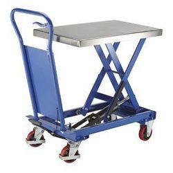Platformowy wózek podnośnikowy Standard,platforma ze stali szlachetnej