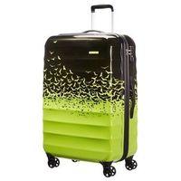 American tourister by samsonite Duża walizka american tourister 02g palm valley zielono-czarna fly - zielono-
