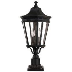 Zewnętrzna lampa stojąca cotswold lane fe/cotsln3/m bk  feiss oprawa ogrodowa słupek latarnia ip44 outdoor czarny wyprodukowany przez Elstead