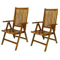 Zestaw 2 drewnianych krzeseł do ogrodu