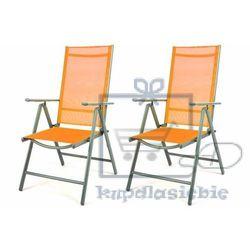 Komplet 2 x krzesła rozkładane - pomarańczowe marki Garthen