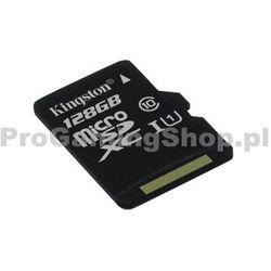 Kingston Micro 128 GB SDXC UHS-I klasy 10-prędkość 30 MB/s - produkt z kategorii- Pozostałe telefony i akc
