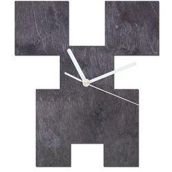 Congee.pl Drewniany zegar na ścianę piksele z białymi wskazówkami (5907509933103)