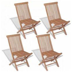 Tekowe krzesła ogrodowe Soriano - 4 szt