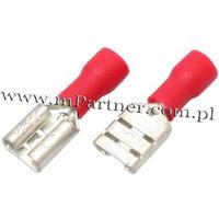 Nasuwka konektor żeński 6,3 mm z osłoną do 1mm 100szt od producenta Mpartner