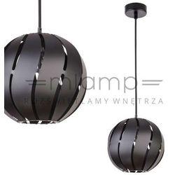 Lampa wisząca globus skos 31000 ażurowa oprawa metalowa zwis kula ball z wycięciami czarna marki Sigma