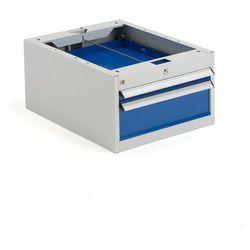 Szafka narzędziowa solid, do stołu roboczego, 2 szuflady, 330x535x670 mm marki Aj produkty