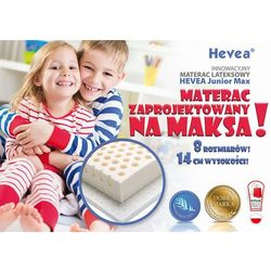 MATERAC LATEKSOWY HEVEA JUNIOR MAX 200x80 + PODUSZKA 45X45 GRATIS!