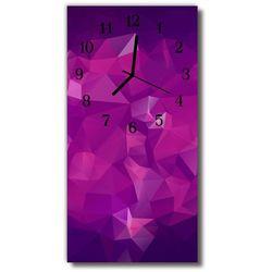 Zegar Szklany Pionowy Sztuka Abstrakcja grafika purpurowy, kolor fioletowy