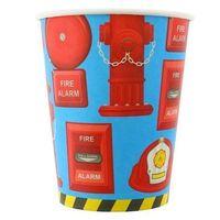 Kubeczki papierowe Straż pożarna 270ml 6 sztuk