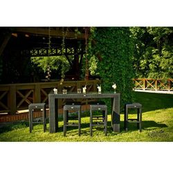 Ogrodowy zestaw mebli barowych glamour z technorattanu czarny marki Bello giardino