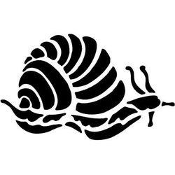 Szablon malarski z tworzywa, wielorazowy, wzór morski 3 - ślimak marki Szabloneria