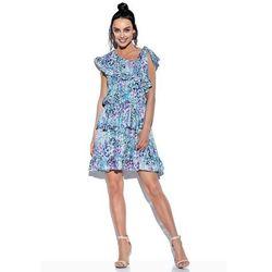 Lemoniade Wzorzysta sukienka wiązana na jedno ramię - druk 14