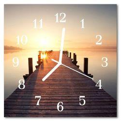 Zegar szklany kwadratowy Most nad jeziorem