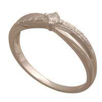 Złoty pierścionek z brylantem  wyprodukowany przez Dp154b
