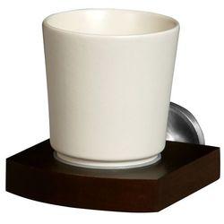 Bisk Kubek łazienkowy madagaskar drewno + znal + ceramika (5901487009683)