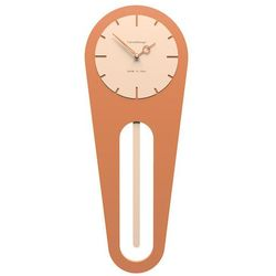 Zegar ścienny z wahadłem Sally CalleaDesign terakota