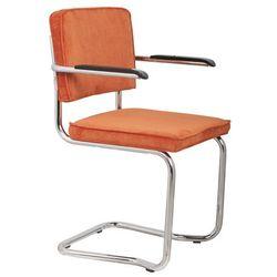 Zuiver  fotel ridge kink rib pomarańczowy 19a 1200046