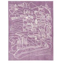 Pt dywan zamek fairy, kolor różowo-fioletowy od producenta Kids conce