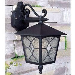 Klasyczna LAMPA elewacyjna LAZIO 2541/BKG-13 Italux zewnętrzna OPRAWA ścienna KINKIET ogrodowy outdoor IP44 czarny złoty