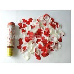 WYSTRZAŁOWE KONFETTI- białe róże i czerwone serca
