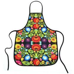 Pracownia artystyczna Fartuszek kuchenny z nadrukiem ludowym - kwiaty łowickie (1)