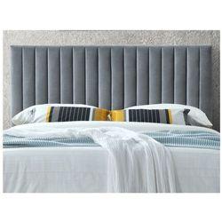 Zagłówek łóżka z pionowymi szwami agenore - tkanina imitująca welur - 160 cm - kolor szary antracyt marki Vente-unique.pl