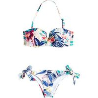 strój kąpielowy ROXY - Bandeau/Knotted Surfer Canary Islands Flora Combo Whi (WBB6)