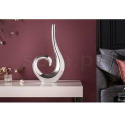 Invicta wazon wave srebrny - aluminium marki Sofa.pl