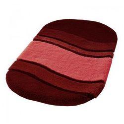 Dywanik łazienkowy 60x100 cm Siesta czerwone wino KW-5476451360 - produkt z kategorii- Dywaniki łazienkowe