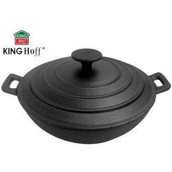 WOK ŻELIWNY Z POKRYWĄ 30cm KINGHOFF [KH-1198], KH-1198