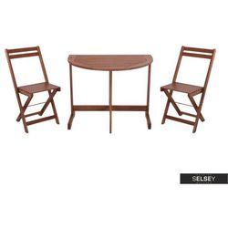 Selsey zestaw mebli ogrodowych survival stół i dwa krzesła na balkon