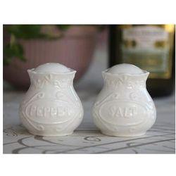 Prowansalska Solniczka i pieprzniczka porcelana