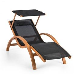 Blumfeldt Acapulco leżak ogrodowy z dachem siateczka comfortmesh nośność: 150 kg kolor czarny