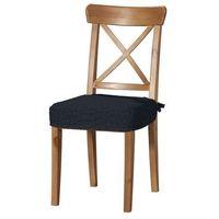siedzisko na krzesło ingolf, grafitowy szenil, krzesło inglof, vintage marki Dekoria